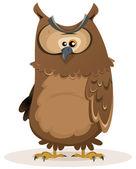 Owl Character — Stock Vector