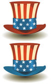 Uncle Sam's Top Hat For American Holidays — Stock Vector