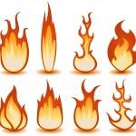 Fire And Flames Symbols Set — Stock Vector #21830287
