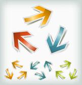 Vintage Arrows Icons Loops — Stock Vector
