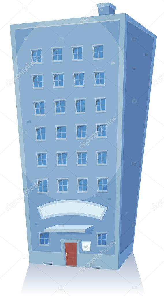 Edificio de dibujos animados — Vector de stock © benchyb ...