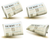 Newspaper Icons Set — Stock Vector