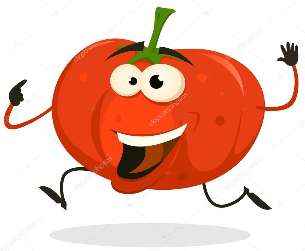 Course de caract re heureux tomate dessin anim image vectorielle benchyb 23361154 - Tomate dessin ...