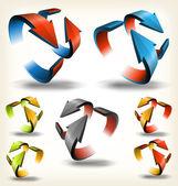 Double-sided Abstract Circular Arrows — Stock Vector