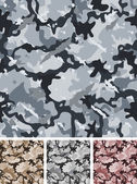 Seamless Complex Military Night Camouflage — Stock Vector