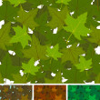 Seamless Maple Leaves Background Set - Stock Vector