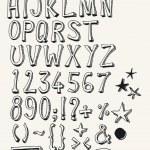 Doodle Complete Alphabet Set — Stock Vector