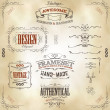 Hand Drawn Vintage Banners And Ribbons — Vector de stock