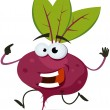 Cartoon Happy Beet Character — Stock Vector