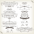 Vintage Old Labels Banners And Frame — Stock Vector #27346987