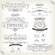 Vintage Old Labels Banners And Frame — Stock Vector