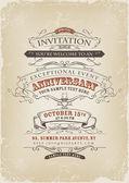 Vintage Invitation Poster — Stock Vector