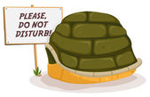 Do Not Disturb Turtle Sleeping — Stock Vector