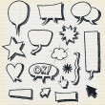 Doodle Speech Bubbles And Elements Set — Stock Vector #28069087