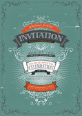 Vintage Invitation Poster Background — Stock Vector