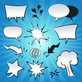 Speech Bubbles, Explosion And Splashes Set — Stock Vector