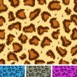 Seamless Leopard Or Cheetah Fur Background — Stock Vector