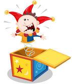 Cartoon Jack In The Box — Stock Vector