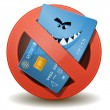 Credit Card Not Allowed — Vettoriali Stock