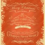 Merry Christmas Retro Background — Stock Vector