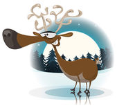 Funny Christmas Reindeer — Stock Vector