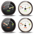 Fuel Gauge Icons Set — Stock Vector