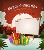 Christmas Holidays Landscape Background — Stock Vector