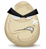 Angry Egg Character — Stock Vector