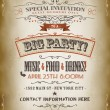Stock Vector: Vintage Big Party Invitation Poster