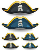 Pirate Hat Set — Stock Vector