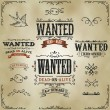 Wanted Vintage Western Banners — Stock Vector #39466931