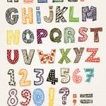 Doodle chique alfabeto abc — Vetor de Stock  #39832453