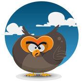 Owl Cartoon Character — Stock Vector