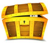 Hiding Inside Treasure Chest — Stock Vector