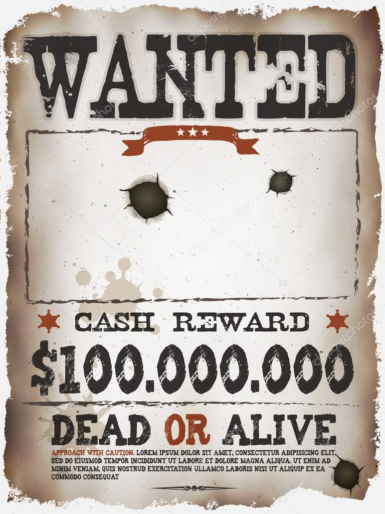 America's most wanted poster template
