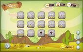 Desert Game User Interface Design For Tablet — Stock Vector