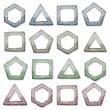 Stone Squares, Triangles And Other Shapes Set — Stock Vector #50163273