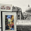View on Tiber and St Peter Basilica — Stock Photo #24924827