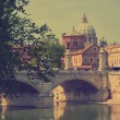 View on Tiber and St Peter Basilica — Stock Photo #24924855