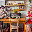Retro couple — Stock Photo