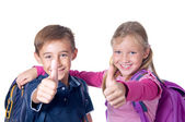 Thumbs up for school! — Stock Photo