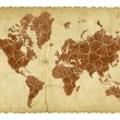 Cracked and dry earth map on vintage background — Stock Photo