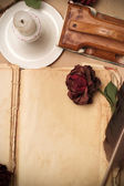 Vintage love book — Stock Photo