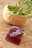 Homemade soap made from lavender — Stock Photo