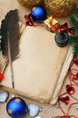 Old christmas book — Stock Photo