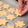 Royalty-Free Stock Photo: Baking christmas cookies