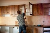 новые кухонные шкафы — Стоковое фото