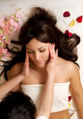 Head massage — Stock Photo