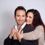 Loving couple embracing — Stock Photo