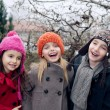Happy kids outside - Stock Photo